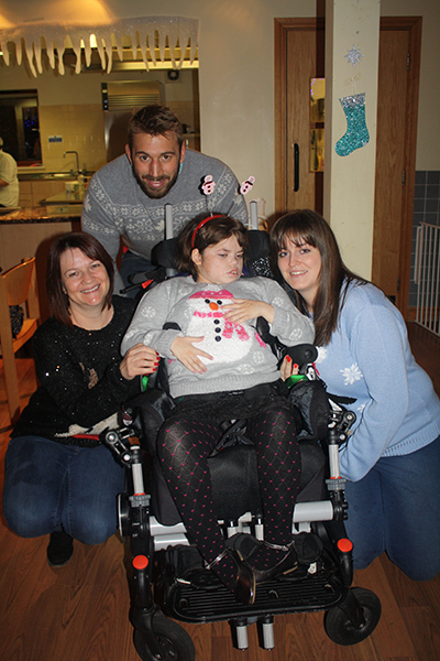 Chris Robshaw with a supported family resized