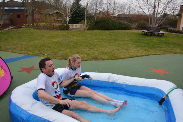 Paul and Bryony in the ice bath 2