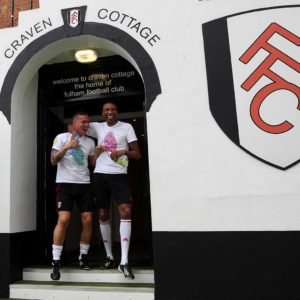 Fulham's Sean Davis and Abdes Ouaddou fundraising