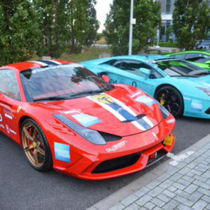 Supercar club supporting Shooting Star Children's Hospices