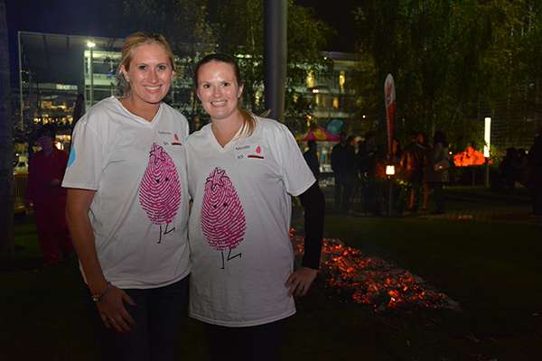 Care team members at our hospices took on the Fire Walk