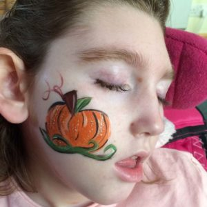 Halloween facepaints at the hospice
