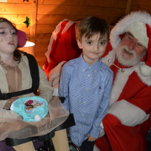 Supported children with Father Christmas