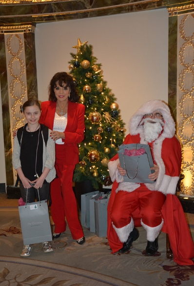 Joan Collins hosts Afternoon Tea at the Dorchester-a web