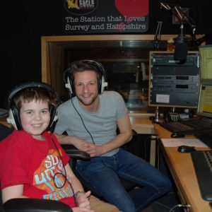 George and Lewis Mason at Eagle Radio