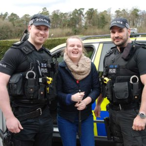 Lily meets officers from the Surrey Police