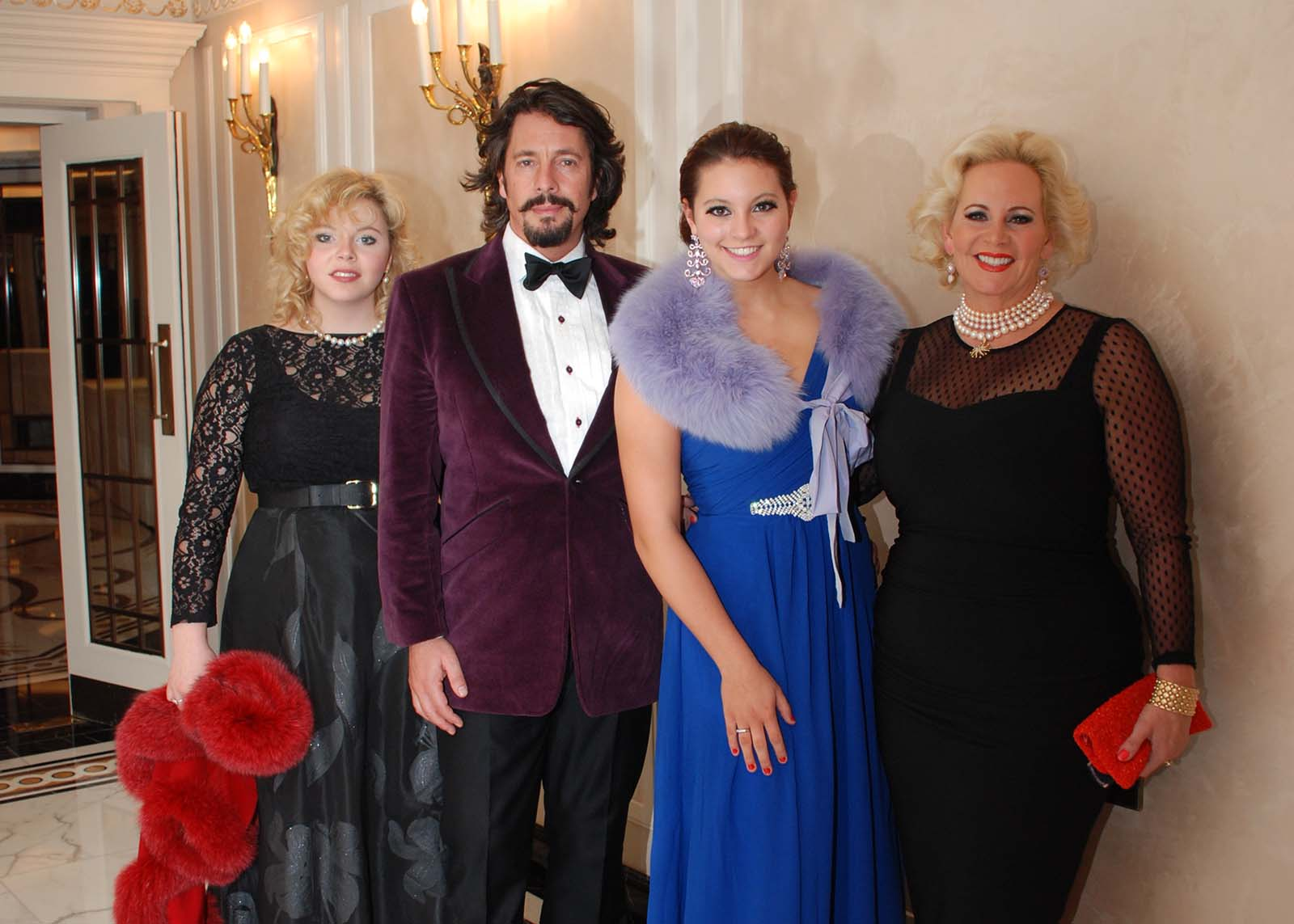 Laurence and Jackie Llewelyn-Bowen with friends