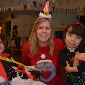Alice at Shooting Star House Christmas party
