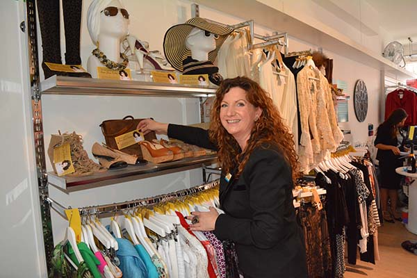 Area Retail Manager Ruth Shaw at Fulham Shop opening