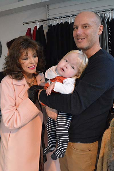 Dame Joan Collins and supported child Gwen