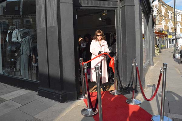 Dame Joan Collins opens Fulham Shop