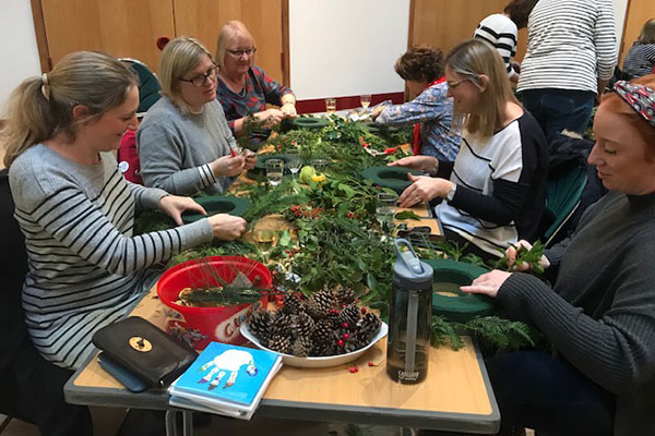 Wreath making Celebrating Rory