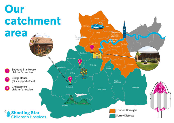 Catchment area map